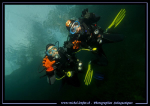 Diver's Attack : Freshwater diving can be dangerous... :O... by Michel Lonfat 